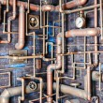 Pipeline maze wall — Stock Photo #80434816