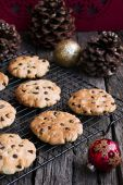 Chocolate Chip Cookies at Christmas Time. — Stock Photo