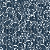Seamless white lace ornamental pattern with curls — Wektor stockowy