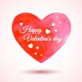 Beautiful vector watercolor heart for Valentine's Day background. Element for your design. — Stockvektor