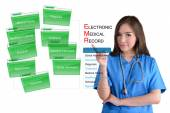 Electronic medical record system. — Stock Photo