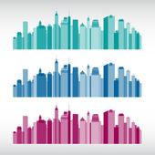 Colorful city illustrations — Stock vektor