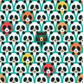 Modèle panda — Vecteur