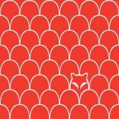 Fox seamless pattern — Stockvektor