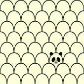 панда бесшовный фон — Cтоковый вектор