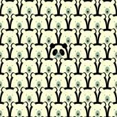 Bear seamless pattern — Stock Vector