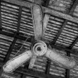 Old Ceiling fan and cobwebs — Stock Photo #76972133