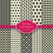 Retro patterns set 2 — Wektor stockowy  #58216919