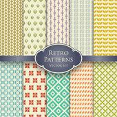 Retro patterns set 1 — Stockvektor
