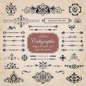 Calligraphic design elements and page decoration set 5 — Vecteur
