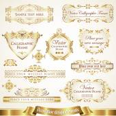 Decorative design elements set 4 — 图库矢量图片