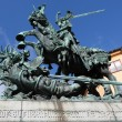 Sweden. Stockholm. Sculpture of St. George the Victorious striking sword dragon. — Stock Photo #53611481