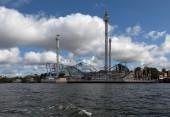 Widok w Sztokholm z wody. Szwecja. — Zdjęcie stockowe