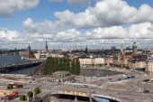 View of Stockholm from the lookout Katarina Hiss. Sweden — Foto de Stock