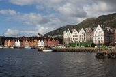 Bryggen. Norway. Bergen. — Stock Photo
