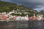 Bryggen. Noruega. Bergen. — Fotografia Stock