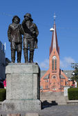 Monument to fishermen. Haugesund. Norway. — Stock Photo
