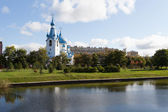 Church of the Nativity in the Pulkovo park. St. Petersburg. Russia. — Stock Photo