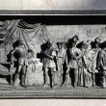 Bas-relief of this classic Kato kambreziyskomu world, based on the monument Emmanuel Filiberto. Piazza San Carlo. Turin. Italy. — Stock Photo #59992165