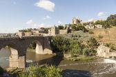 Saint Martin Bridge over the Tagus river. Toledo. Spain. — Stock Photo