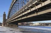 Puente bolsheokhtinsky. san petersburgo. rusia — Foto de Stock