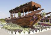 Flower Park in Dubai (Dubai Miracle Garden). United Arab Emirates — Foto de Stock