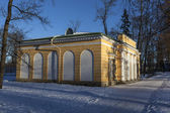 "Catherine Park. Pavilion ""Evening hall."" Pushkin (Tsarskoye Selo) Russia. — Stock Photo"