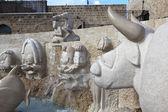 """Jaffa, Izrael - 31 grudnia 2010: Zdjęcie z fontanną """"Znaki zodiaku"""", fragment. — Zdjęcie stockowe"""