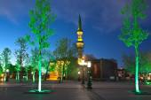 Haji Bayram Mosque at night. Ankara. Turkey. — Stock Photo