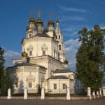 Trinity Cathedral in Verkhoturye summer morning. Sverdlovsk Region RUSSIA. — Stock Photo #75687577
