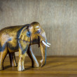 Handcraft wood elephant sculpture. — Stock Photo #66243699