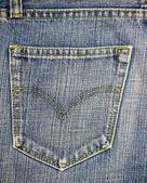 Blue jeans pocket. — Stock Photo