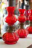 Old antique kerosene lamp. — Stock Photo