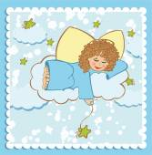Baby card with an angel — Stock Vector