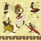 Ethnische helle muster — Stockvektor