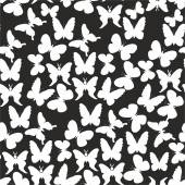 White butterflies on a black background — Stock Vector
