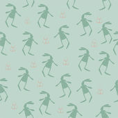 Pattern with bunnies silhouettes — Cтоковый вектор