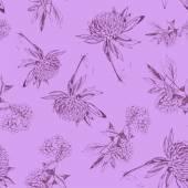 Vector Flower (Seamless Pattern) — Stock Vector