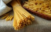 Several types of pasta on the table — Stock Photo
