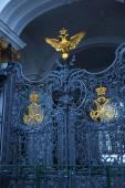 Openwork iron gates at the Hermitage — Stock Photo