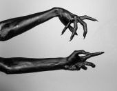 Black hand of death — Stockfoto