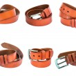 Set of Brown leather belts — Stock Photo #63727995