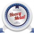 Постер, плакат: Heavy metal music stamp