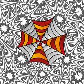 Colorful spiderweb — Stock Vector