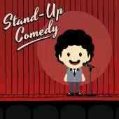 Male stand up comedian — Stock Vector