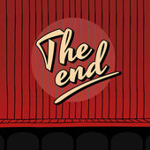 The end sign — Stock Vector