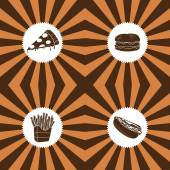 Fastfood set — Stock Vector