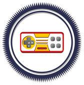 Console joystick theme — Stock Vector