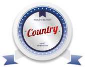 Country music stamp — Stock Vector