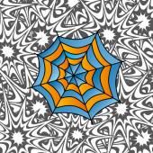 Kleur retro spiderweb — Stockvector